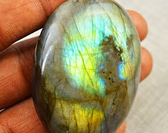 Flat 50% OFF Oval Shape Green Flash labradorite cabochon gem