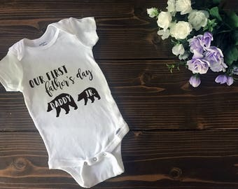 Custom First Father's Day Onesie | Custom T Shirt | Create Your Own T Shirt | Custom Sayings | Graphic Tees | T Shirts | Slogan T Shirt
