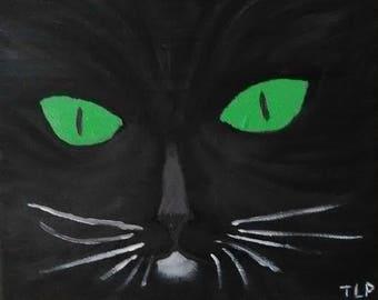 Black Cat-Oil Painting