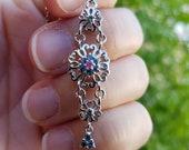 Sterling Silver Color Change Garnet & Pink Spinel Pendant