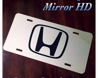 Honda Custom License Plate Carbon Fiber Logo New Fits Accord Pilot Civic CRV USA