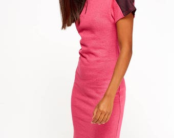 Women's Colour Block Midi Dress