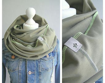 Loop, circle scarf, Khaki-Green