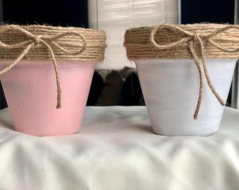 Petite Distressed Terra Cotta Pots