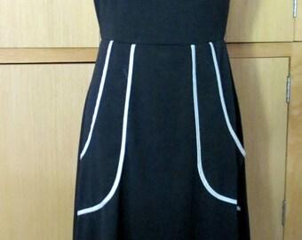 Black and White Sunny Girl Retro Women's Dress NWT