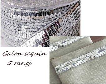 Stripe Tote gray sequin Ribbon clear glitter the meter strap for ribbon tote bag