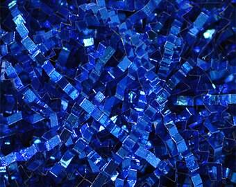Metallic Crinkle Royal Blue, Metallic Crinkle  Gift Basket Shred, Crinkle Paper ,Filler paper, Basket Filler , Cut Paper Shred, Eco Friendly