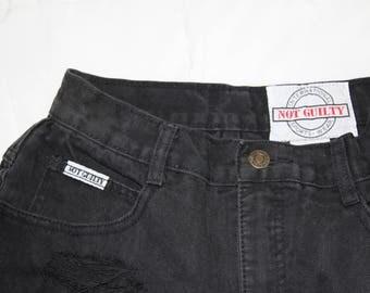 Black Distressed Vintage High waisted Shorts