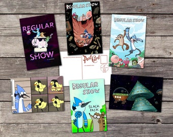 Regular Show set 6 postcards | regular show gift | regular show rigby | mordecai and rigby | benson regular show | Regular Show poster |