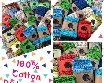 100% Crocheted Cotton Dishcloths