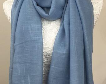 Tassel Scarf - Blue