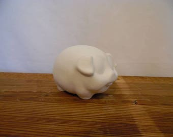 Ceramic Bisque Ready to Paint Small Round Pig