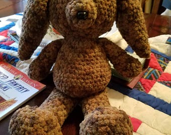 Large Crocheted Bunny