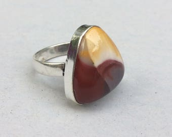 silver ring and imperial Jasper size 58 (ref 75446715)