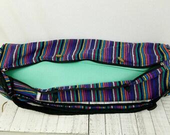 Tribal pattern yoga bag, fair trade, handmade