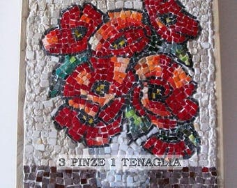 Mosaic picture: red poppies