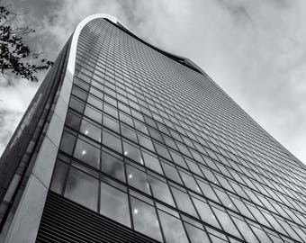 Fine Art Photography, Limited Edition Print, Photography Prints, Black And White Photography, Skyscraper, City of London, Collectable Art