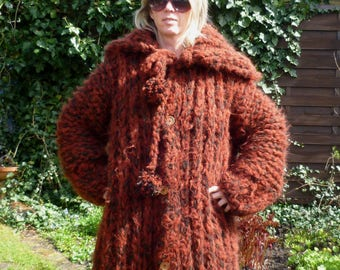 Mohair sweater Coat