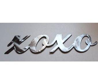 xoxo Metal Wall Art Decor Accent