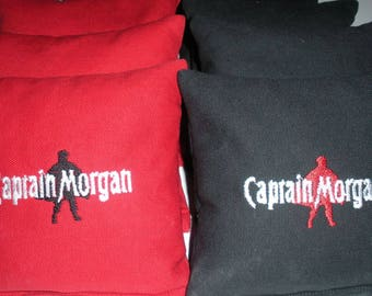 Embroidered Captain Morgan Cornhole Bags Set of Eight - Sweet