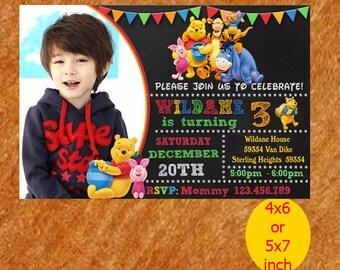 Winnie The Pooh Invitation / Winnie The Pooh Birthday Invitation /Winnie The Pooh Birthday / Invite / Winnie The Pooh Party / Printable,