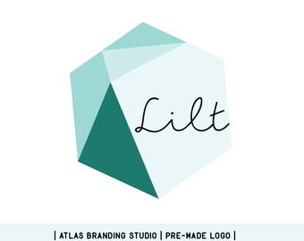 "Premade logo - geometric, shapes, hexagon, logo design, branding, identity, ""Lilt"""