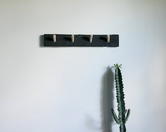 Roasted wood design coat rack