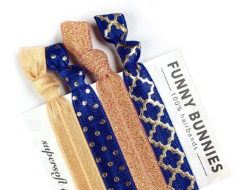 ROYAL - 4 bracelets / hair ties - funnybunnies supersoft