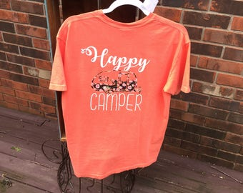 Happy Camper Floral Pocket T-Shirt