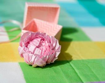 Handmade ribbon flower brooch