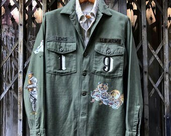 Vintage handpainted and crafted originals military jacket vietnam war
