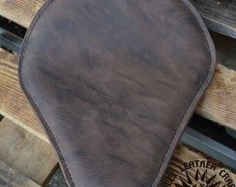 Handmade Bobber Seat Buffalo Mocca