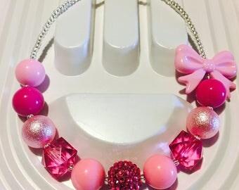 Pink Bubble Gum Necklace