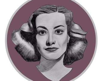 Joan Crawford limited edition print