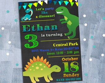 Jpeg invitation etsy dinosaur birthday invitation dinosaur invitation dinosaur party dino invitation dinosaur invite and stopboris Image collections