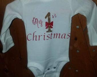 My first Christmas onesie