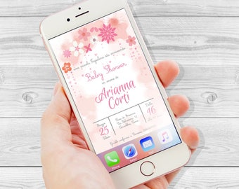 Babyshower, digital Instant Messaging invitation