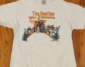 Vintage The Beatles Yellow Submarine Shirt 1960s 1970s