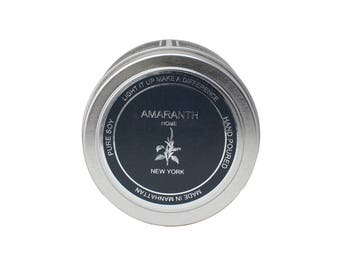 Campfire Travel Tin soy candle, soy candles handmade, scented soy candles, pure soy candles, made in New York