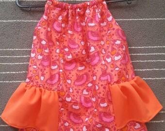 Girl dress with ruffles