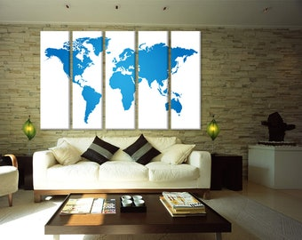 travel world map blue map of world, large world map push pin world map, world map canvas world map canvas art, home decor map canvas