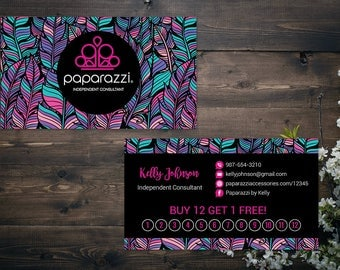 PERSONALIZED Paparazzi Business Card,Paparazzi Punch Cards, Custom Paparazzi Accessories Business Card, Printable Business Card PZ13