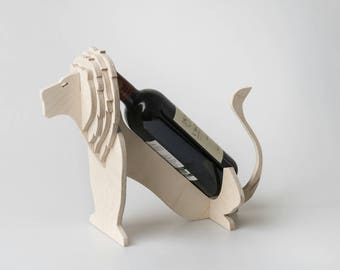 Lion Wine Holder, Wine Racks For Sale, Flat Pack, Wood Wine Rack, Gift, House Warming, Corporate Gifts, Wine, Birthday Gift, Lion King