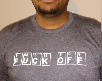 Periodic Table Elements Chemistry Phrase Adult Men's Shirt Geek Nerd InteliGear Apparel
