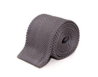 de MORÉ - silver-gray knit tie