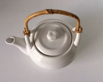 White Ceramic Teapot | WCL | China | Vintage