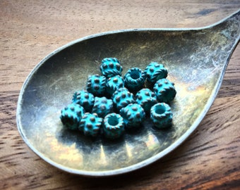 15 5mm Patina on Copper Bali Style Popcorn Beads
