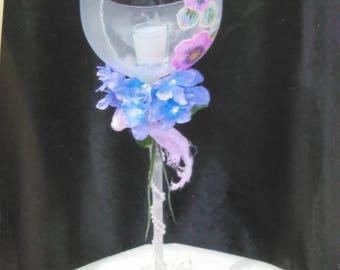 Wine Pink and Violet floral