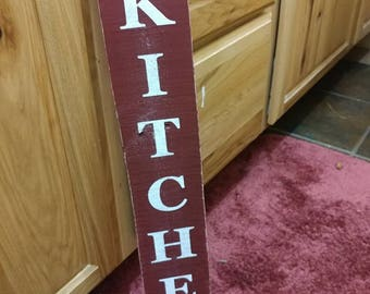 Rustic Kitchen Sign Distressed