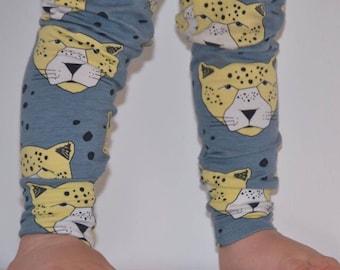 Organic cotton leggings blue leopards// baby leggings // toddler leggings // baby gift // baby shower